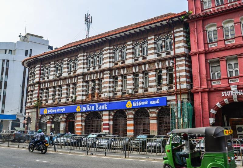 Vecchia costruzione a Colombo, Sri Lanka immagini stock libere da diritti