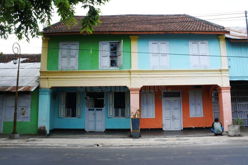 Vecchia costruzione coloniale dell'eredità immagine stock libera da diritti