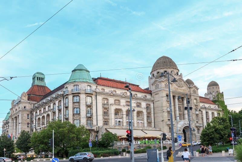 Vecchia costruzione dell'hotel di Gellert a Budapest, Ungheria immagini stock