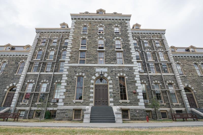Vecchia costruzione dell'università a Cornell fotografia stock