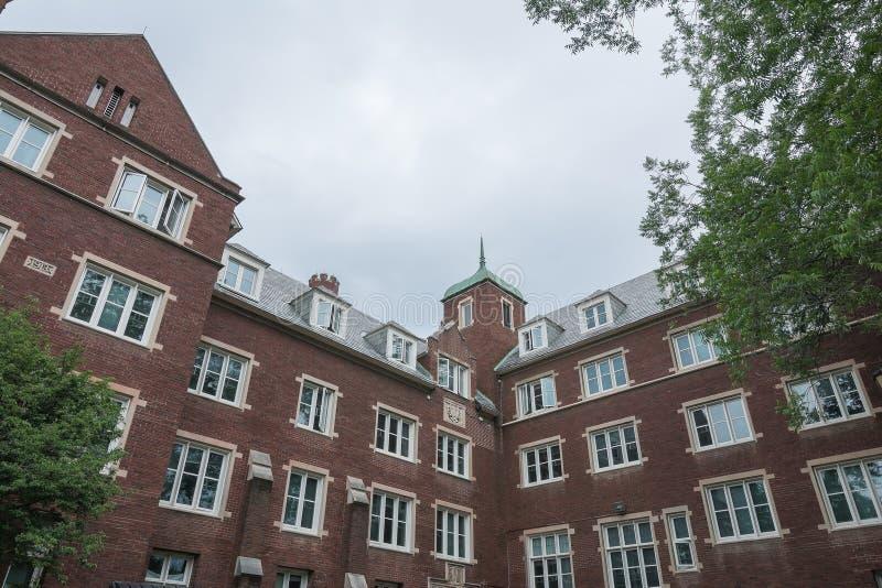 Vecchia costruzione dell'università a Cornell University fotografia stock