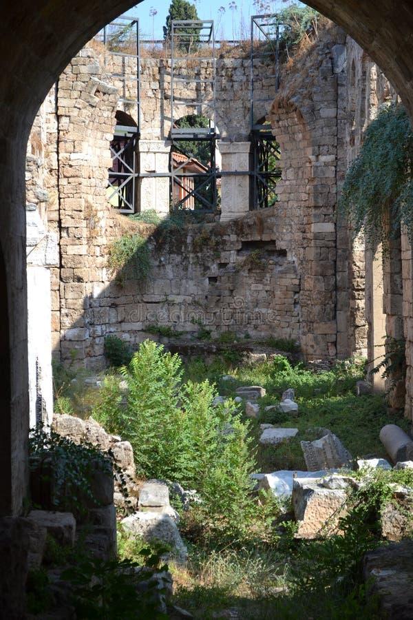 Vecchia costruzione della città in Antalia immagini stock libere da diritti