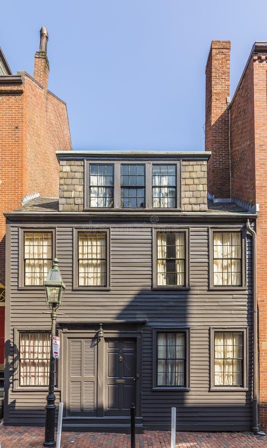 Vecchia costruzione di mattone all'area della collina di segnale a Boston fotografia stock libera da diritti