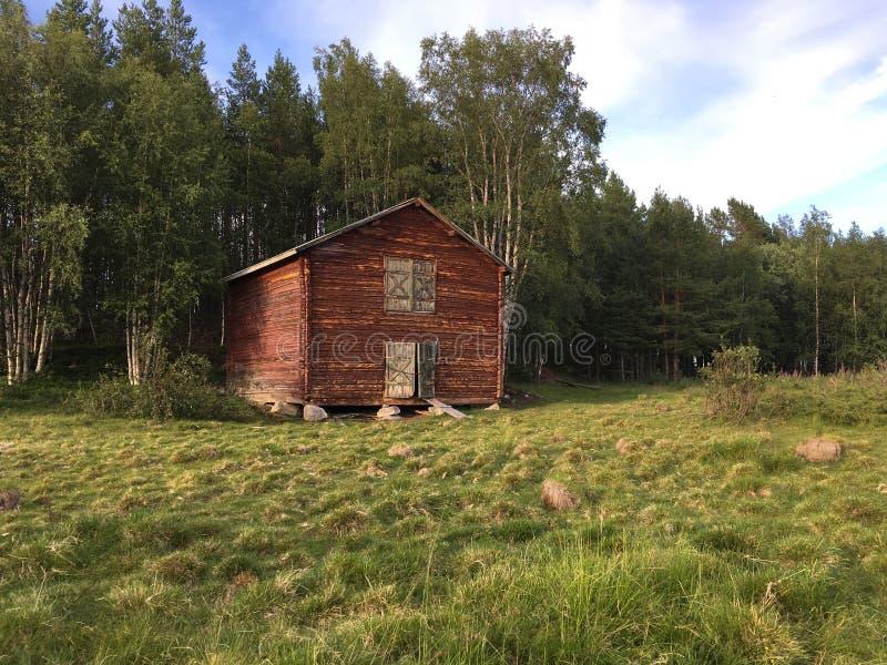 Vecchia costruzione in Randijaur Svezia fotografia stock libera da diritti