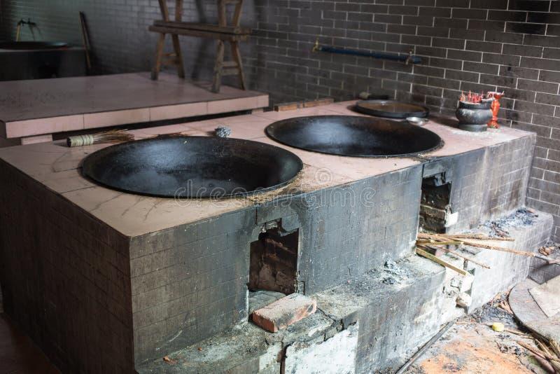 Vecchia cucina cinese immagini stock libere da diritti