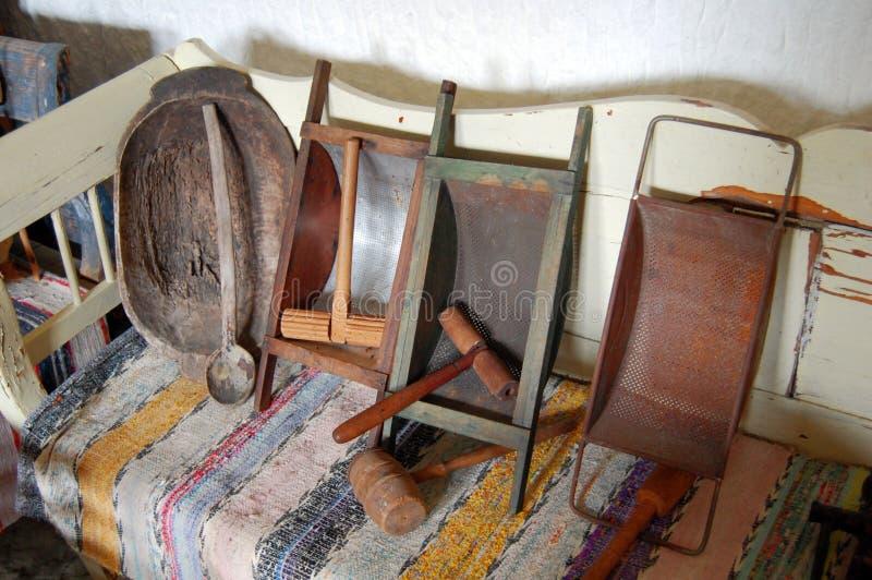 Vecchia cucina tradizionale fotografia stock