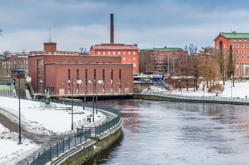 Vecchia diga nella città di Helsinki, Finlandia fotografia stock libera da diritti