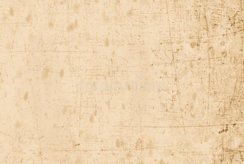 Vecchia e carta graffiata beige immagini stock libere da diritti