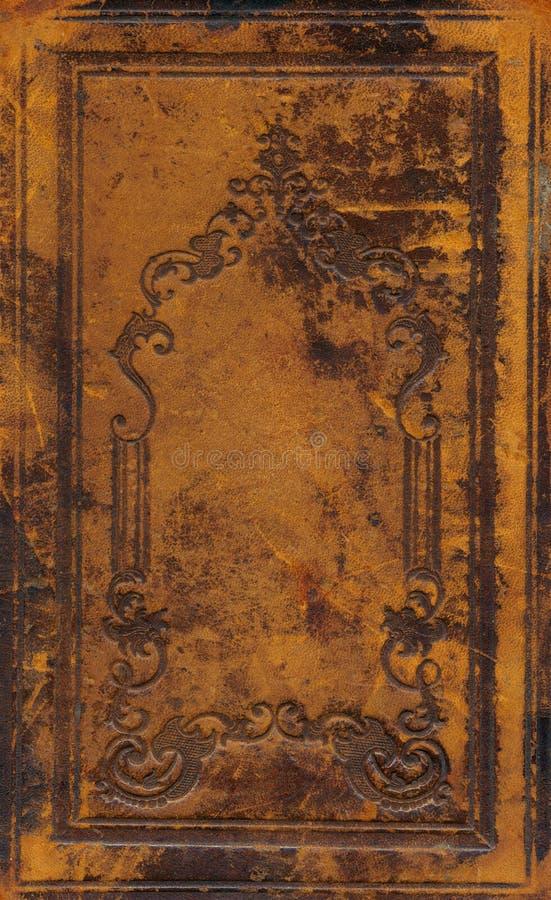 Vecchia e copertina di libro ornamentale sporca immagini stock libere da diritti