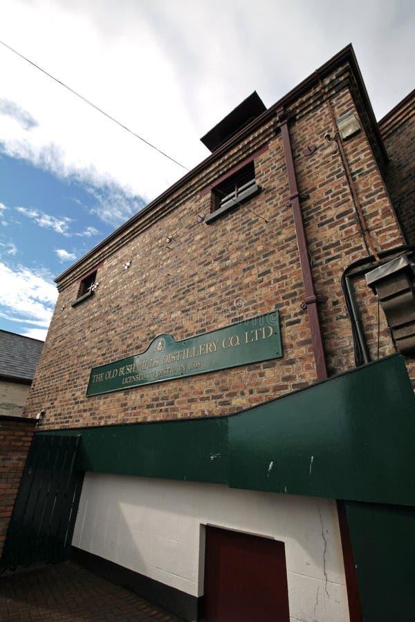 Vecchia distilleria di Bushmills, Irlanda del Nord fotografia stock