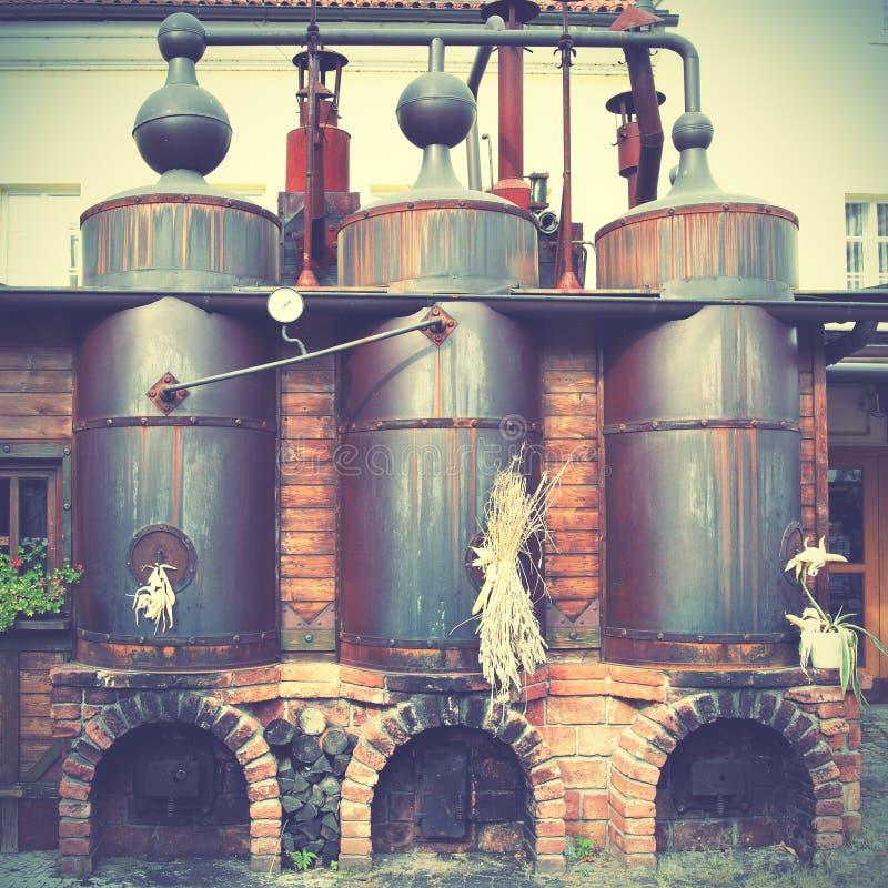 Vecchia fabbrica di birra immagini stock libere da diritti