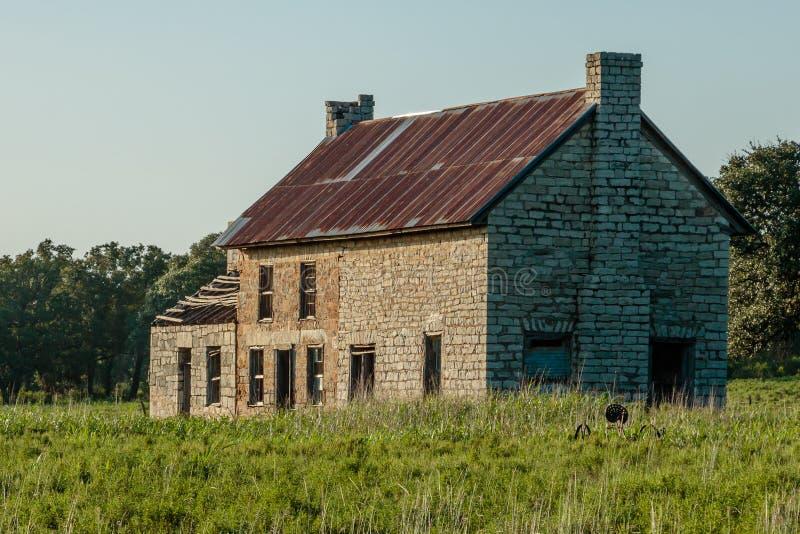 Vecchia fattoria di pietra fotografie stock libere da diritti