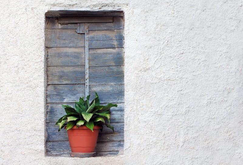 Vecchia Finestra Della Casa Fotografia Stock