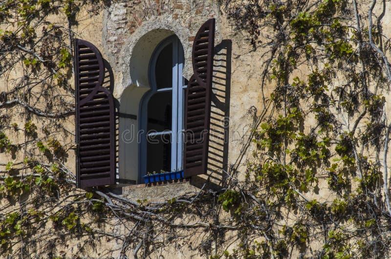 Vecchia finestra estone Baroque baroque immagine stock libera da diritti