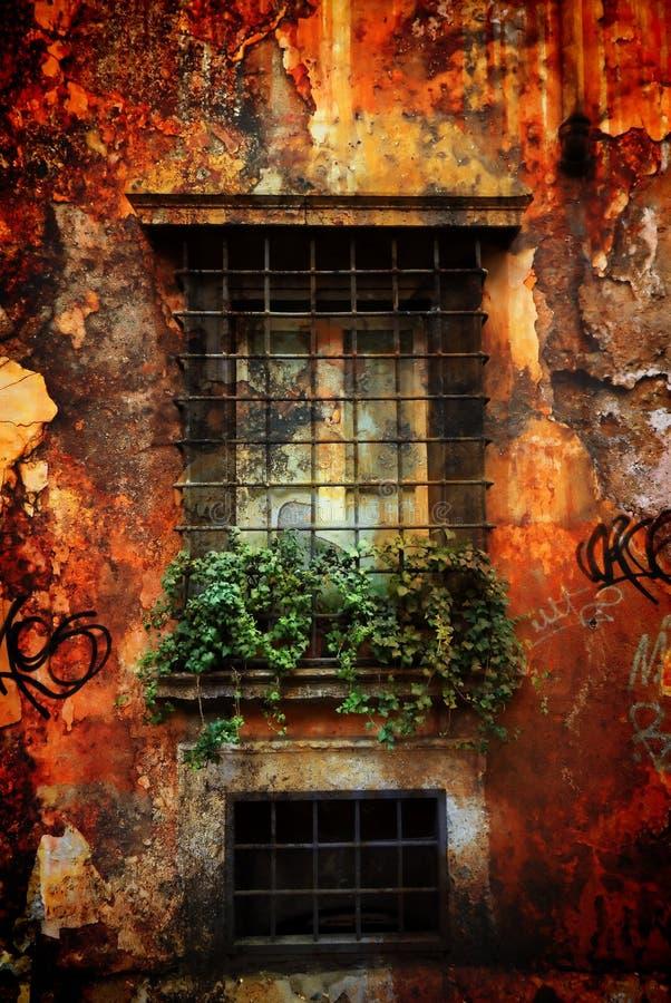 Vecchia finestra italiana fotografia stock libera da diritti