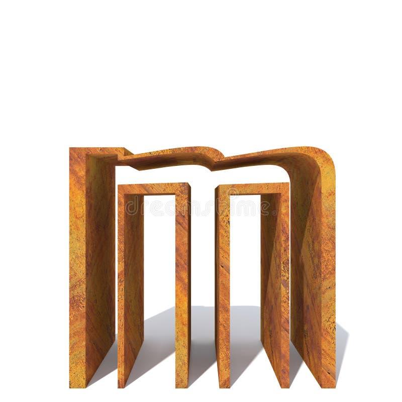Vecchia fonte arrugginita del metallo illustrazione di stock