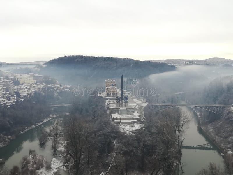 Vecchia foresta del fiume della città immagine stock libera da diritti