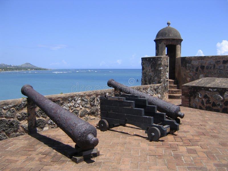 Vecchia fortezza caraibica fotografia stock