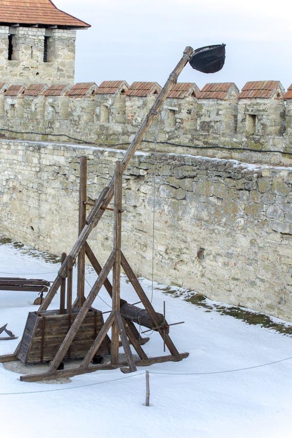 Vecchia fortezza turca nella città di Tighina nell'inverno immagine stock