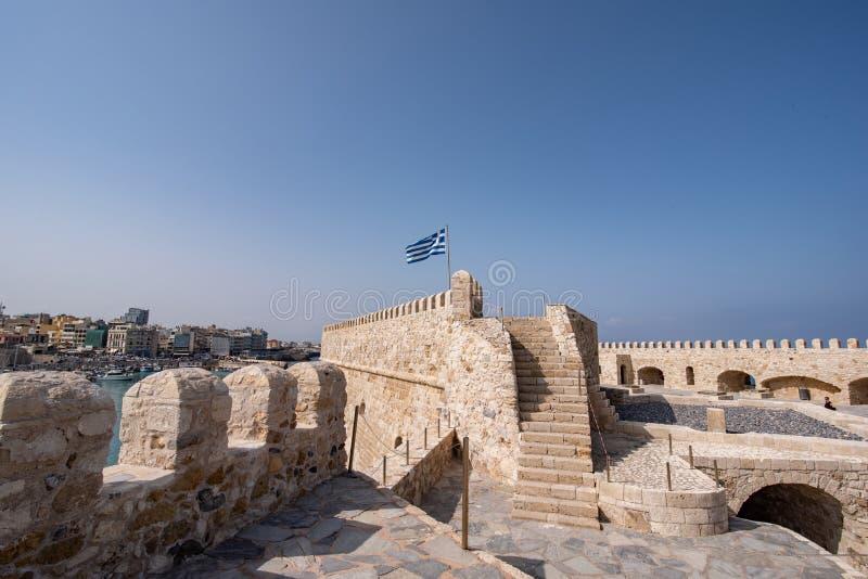 Vecchia fortezza veneziana nella città di Candia, Creta di Koules Principale v fotografie stock