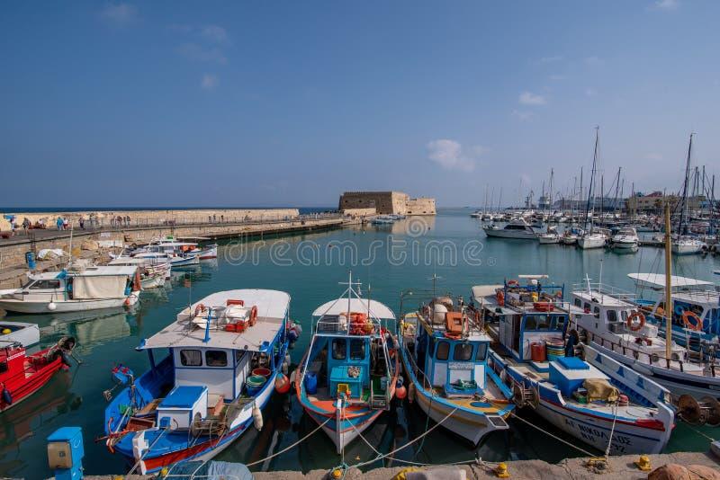 Vecchia fortezza veneziana nella città di Candia, Creta di Koules Principale v immagini stock