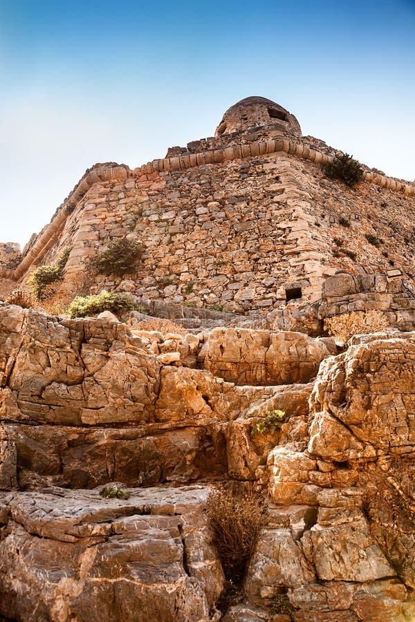 Vecchia fortificazione all'isola di Gramvousa fotografia stock libera da diritti