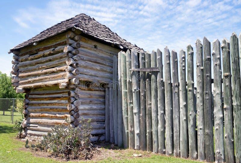 Vecchia fortificazione del legname fotografia stock