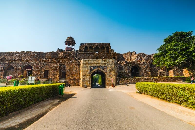 Vecchia fortificazione di Delhi immagini stock libere da diritti