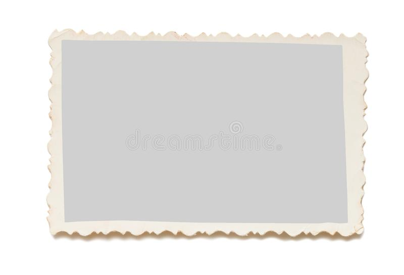 Vecchia foto su un fondo bianco fotografia stock libera da diritti
