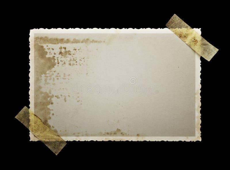 Vecchia fotografia in bianco macchiata fotografie stock libere da diritti
