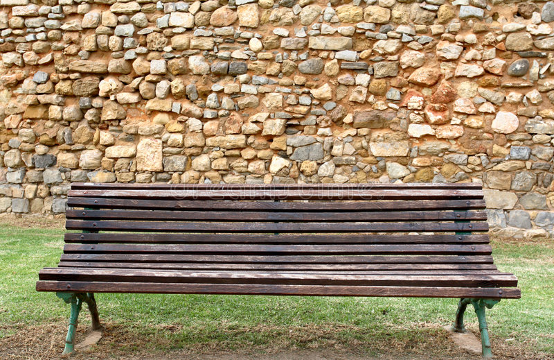 Vecchia giardino-banca immagine stock libera da diritti