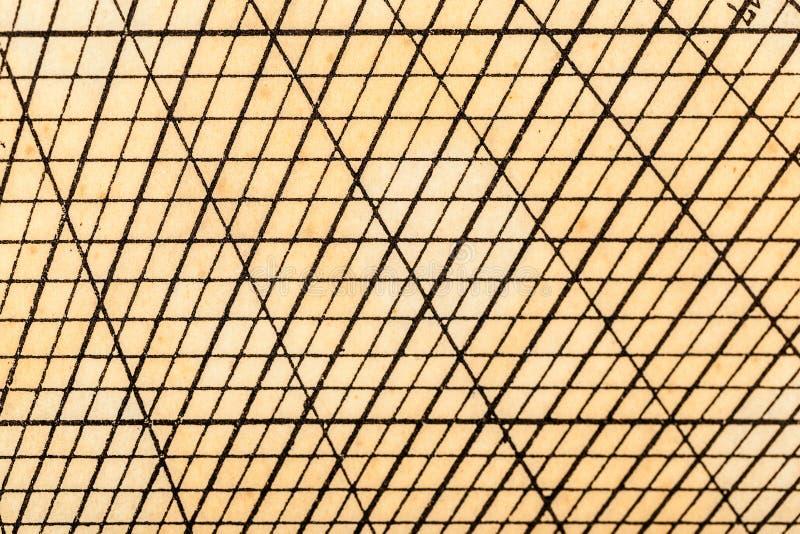 Vecchia griglia geometrica della tavola fotografie stock