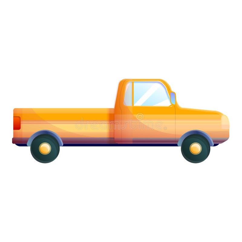 Vecchia icona arancio della raccolta, stile del fumetto illustrazione vettoriale