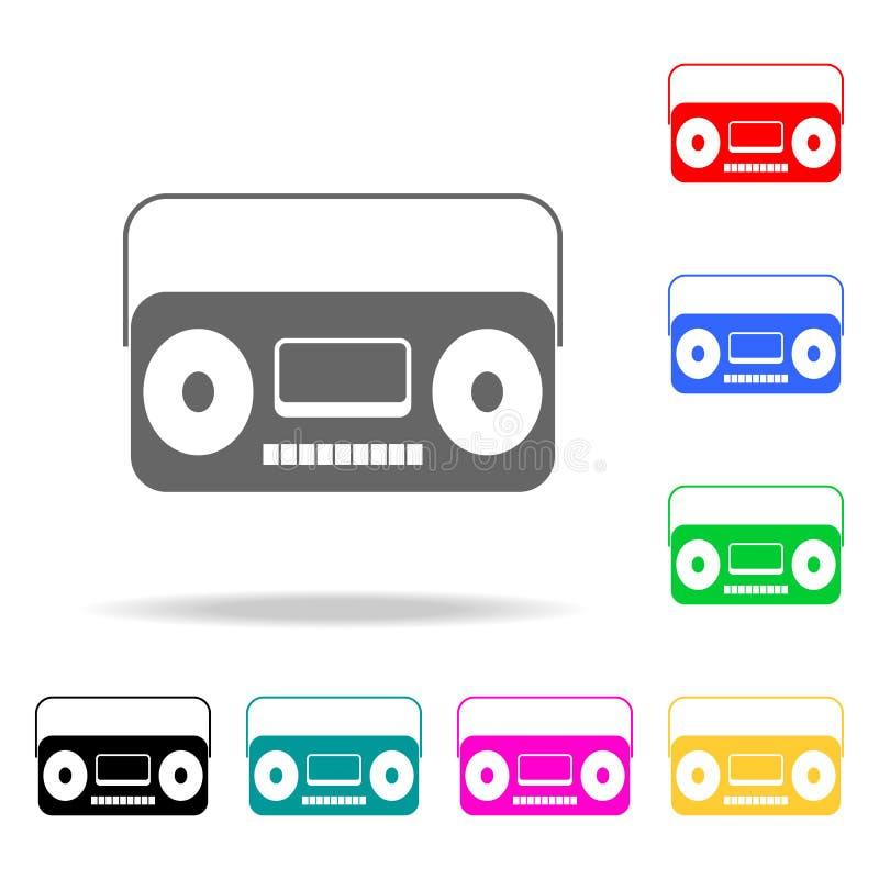 vecchia icona del registratore Elementi di multi icone colorate del partito Icona premio di progettazione grafica di qualità Icon royalty illustrazione gratis