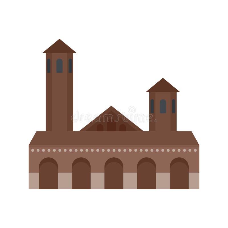 Vecchia icona della costruzione, stile piano royalty illustrazione gratis