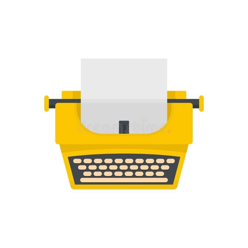 Vecchia icona della macchina da scrivere di modo, stile piano illustrazione di stock