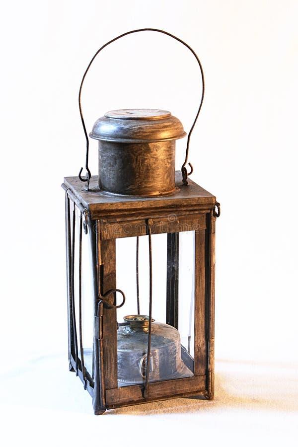Vecchia lampada 2 del ferro fotografie stock