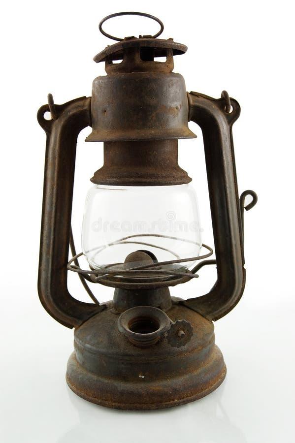 Vecchia lampada di minatore fotografie stock libere da diritti