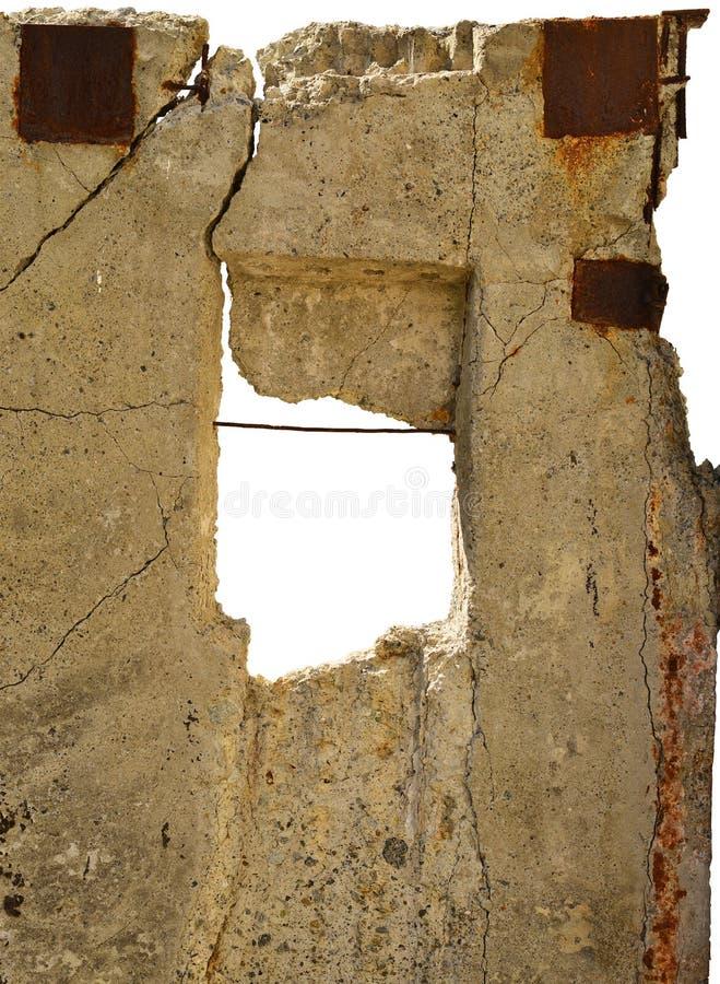 Vecchia lastra del cemento con il foro nel mezzo immagine stock libera da diritti
