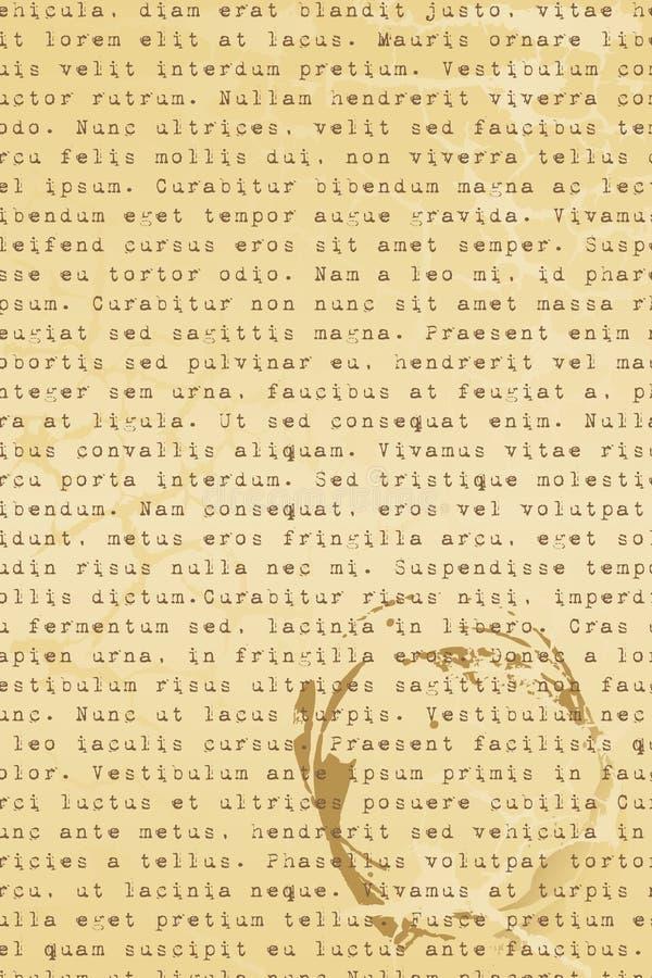 Vecchia lettera illustrazione vettoriale
