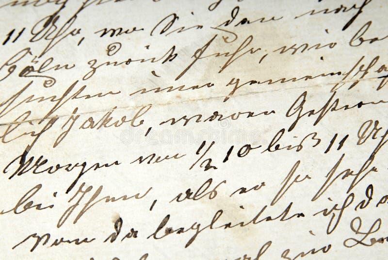 Vecchia lettera immagini stock libere da diritti