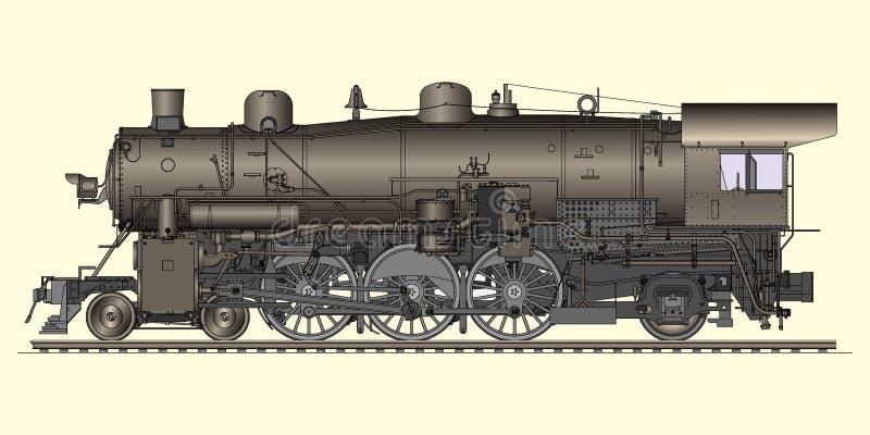 Vecchia locomotiva illustrazione vettoriale