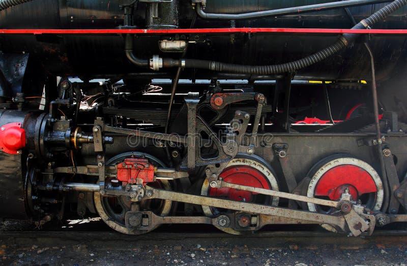 Vecchia locomotiva del carbone, montagne di Bieszczady, Polonia fotografie stock