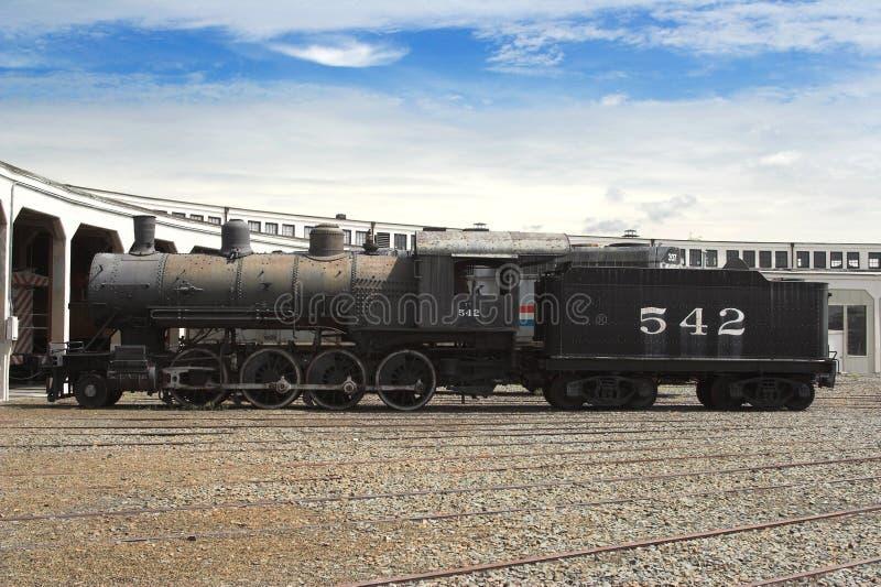Vecchia locomotiva dello steeam fotografia stock libera da diritti