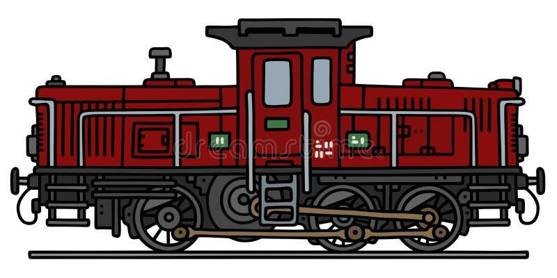 Vecchia locomotiva diesel royalty illustrazione gratis