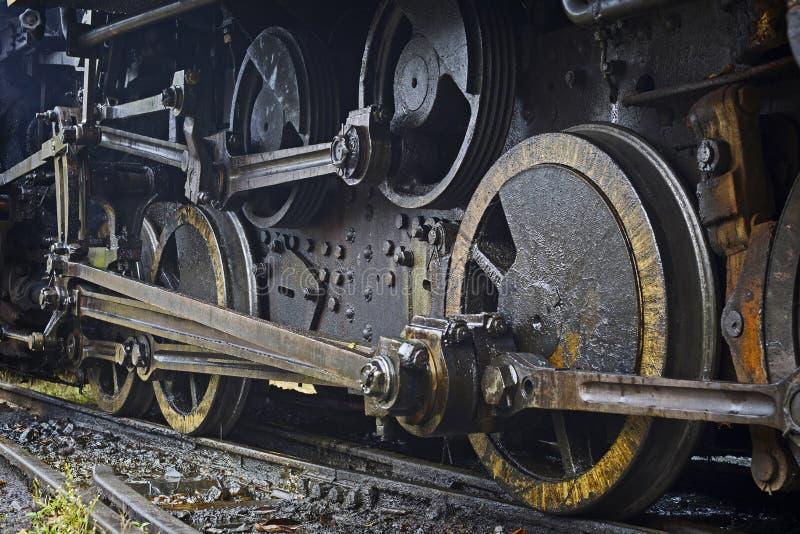 Vecchia locomotiva a vapore di lerciume fotografie stock