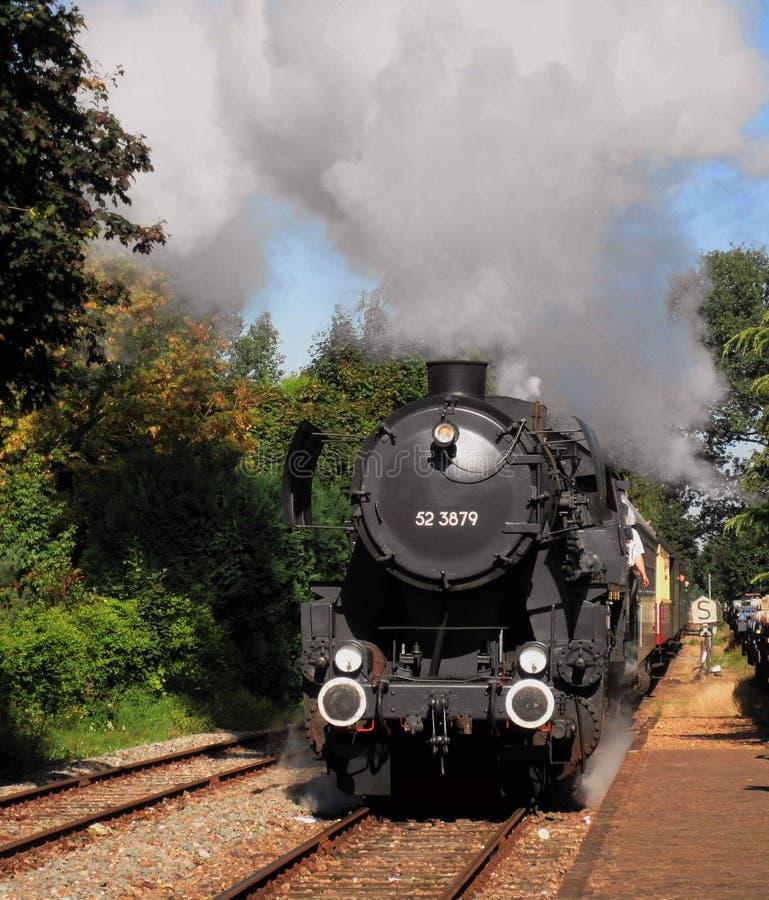 Vecchia locomotiva a vapore fotografia stock