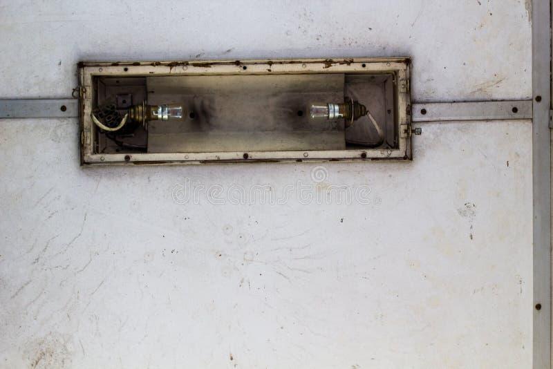 Vecchia luce su un treno immagine stock libera da diritti