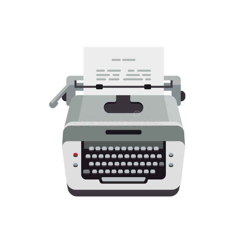 Vecchia macchina da scrivere, macchina dell'annata, macchina da scrivere per testo di battitura a macchina e carta royalty illustrazione gratis