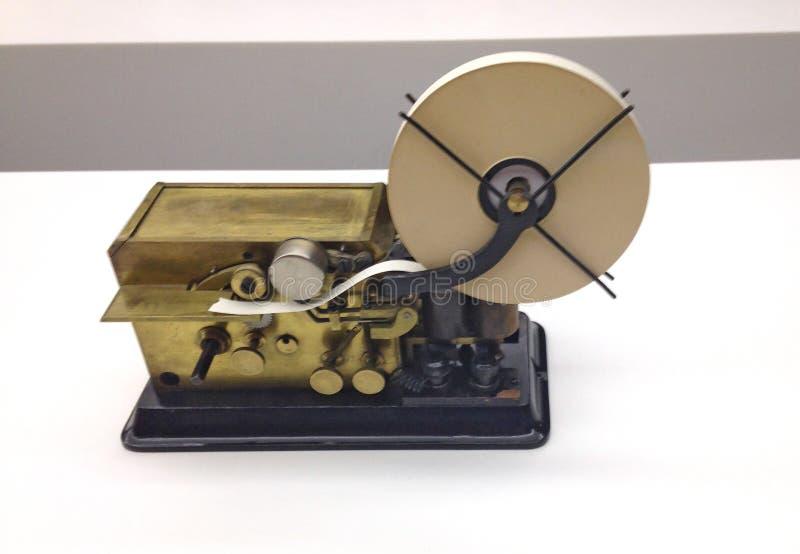 vecchia macchina del telegrafo fotografia stock